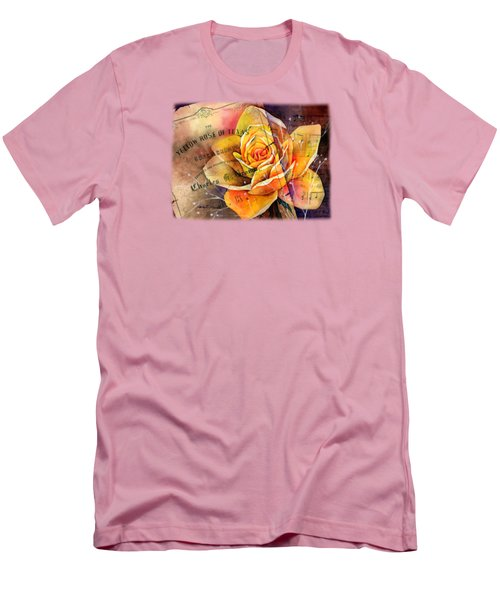 Yellow Rose Of Texas Men's T-Shirt (Slim Fit) by Hailey E Herrera