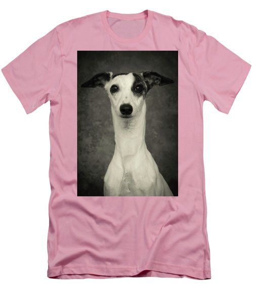 Young Whippet In Black And White Men's T-Shirt (Slim Fit) by Greg and Chrystal Mimbs