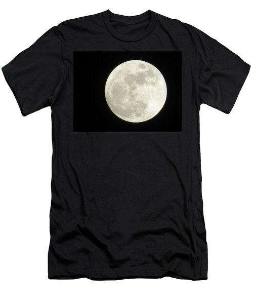 A Winter'sfullmoon Over Ga Men's T-Shirt (Slim Fit) by Aaron Martens