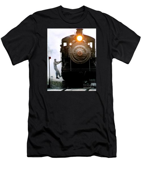 All Aboard The Number 40 At New Hope Pennsylvania Train Terminal Men's T-Shirt (Athletic Fit)