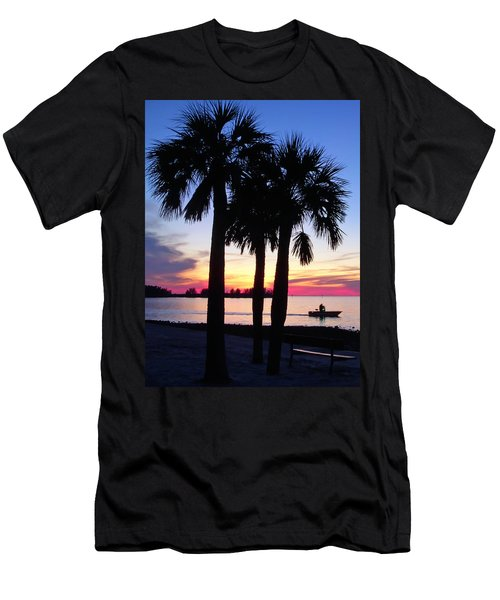 Men's T-Shirt (Slim Fit) featuring the photograph  Beach Sunset by Aimee L Maher Photography and Art Visit ALMGallerydotcom