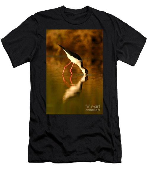Stilt In Gold Men's T-Shirt (Athletic Fit)