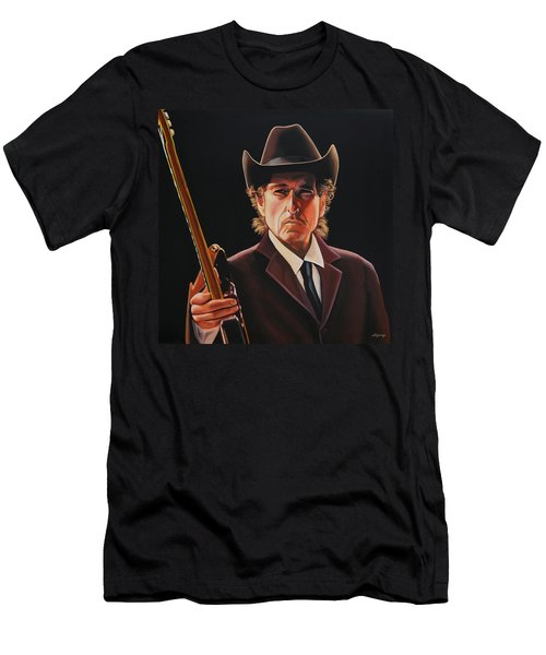Bob Dylan 2 Men's T-Shirt (Slim Fit) by Paul Meijering