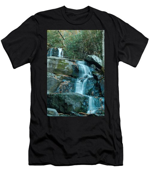 Men's T-Shirt (Slim Fit) featuring the photograph  Bottom Of Laurel Falls by Patrick Shupert