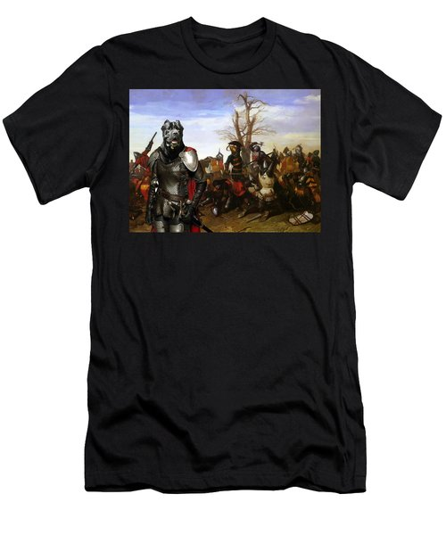Cane Corso Art Canvas Print - Swords And Bravery Men's T-Shirt (Athletic Fit)