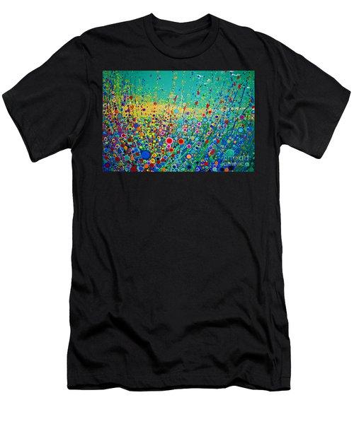 Colorful Flowerscape Men's T-Shirt (Athletic Fit)