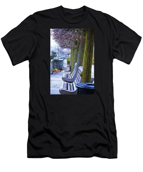 Men's T-Shirt (Slim Fit) featuring the photograph  Colours In The Park by Al Fritz