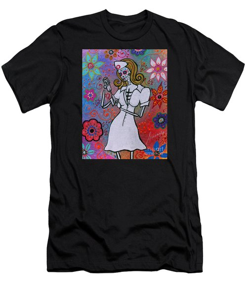 Dia De Los Muertos Nurse Men's T-Shirt (Athletic Fit)