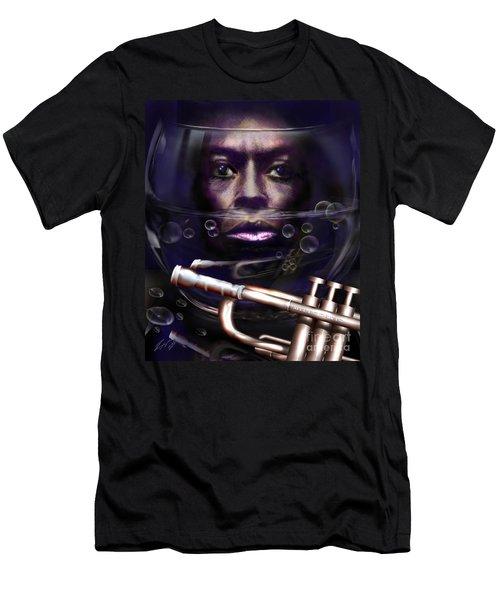Fish Bowl Of Miles  Men's T-Shirt (Athletic Fit)