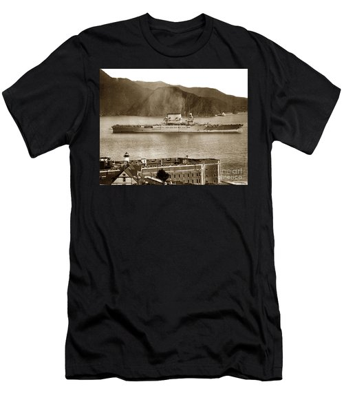 U. S. S. Lexington Cv-2 Fort Point Golden Gate San Francisco Bay California 1928 Men's T-Shirt (Athletic Fit)