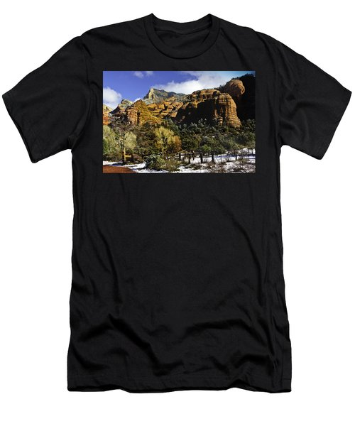 Hancock Ranch In The Wilderness Area Of Sedona Az  Men's T-Shirt (Athletic Fit)