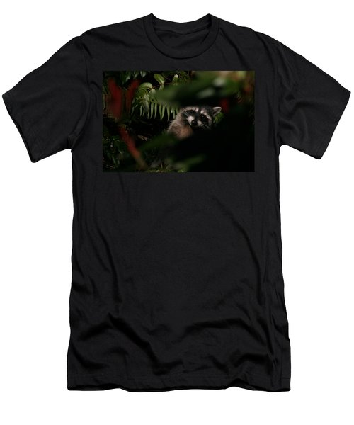 I Can See You  Mr. Raccoon Men's T-Shirt (Slim Fit) by Kym Backland