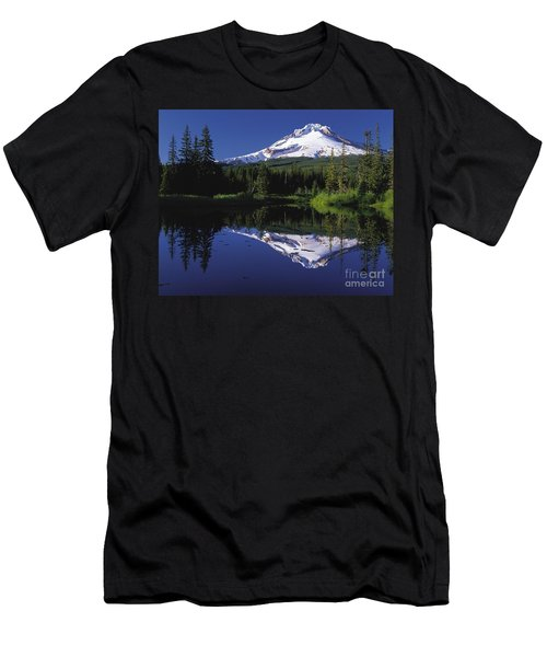 Men's T-Shirt (Slim Fit) featuring the photograph  Mount Hood Oregon  by Paul Fearn