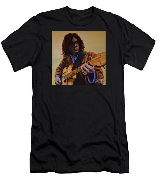 Neil Young Painting Men's T-Shirt (Slim Fit) by Paul Meijering