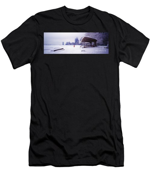 North Ave Beach Chess Palv Chicago Lake Front  Men's T-Shirt (Athletic Fit)