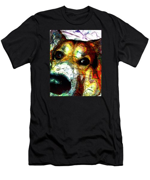 Pembroke Welsh Corgi Men's T-Shirt (Slim Fit) by Alene Sirott-Cope