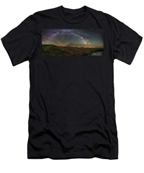 Pinnacles Overlook At Night Men's T-Shirt (Athletic Fit)