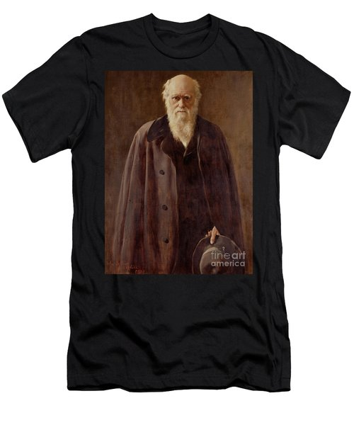 Portrait Of Charles Darwin Men's T-Shirt (Athletic Fit)