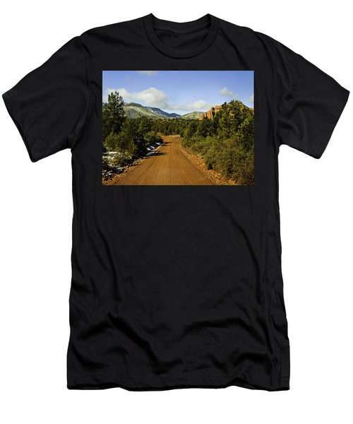 Red Canyon Road Sedona Back Country Men's T-Shirt (Athletic Fit)