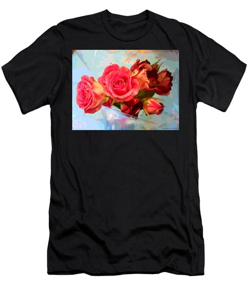 Roses 4 Lovers  Men's T-Shirt (Athletic Fit)