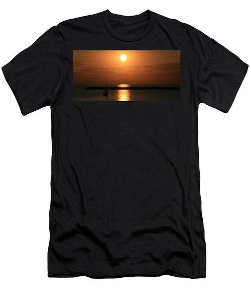 Sailboat A Drift Men's T-Shirt (Slim Fit) by Kay Novy