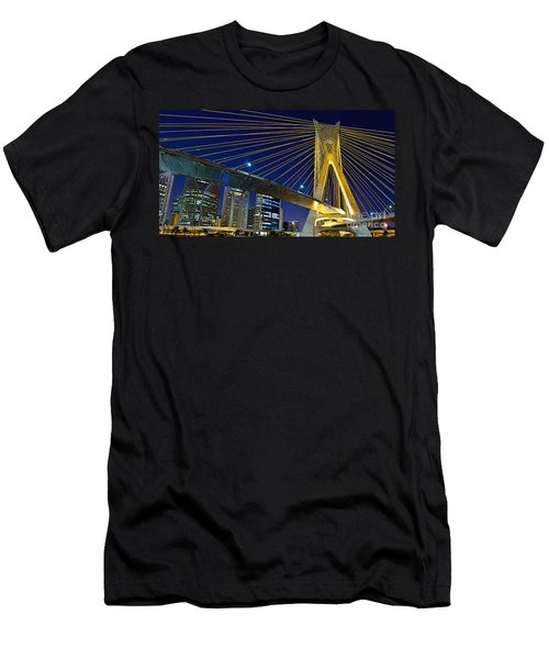 Sao Paulo's Iconic Cable-stayed Bridge  Men's T-Shirt (Athletic Fit)