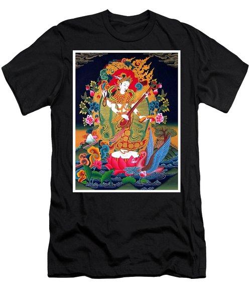 Saraswati 3 Men's T-Shirt (Slim Fit) by Lanjee Chee