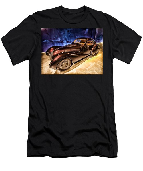 Men's T-Shirt (Slim Fit) featuring the photograph  Talbot Lago 1937 Car Automobile Hdr Vehicle  by Paul Fearn