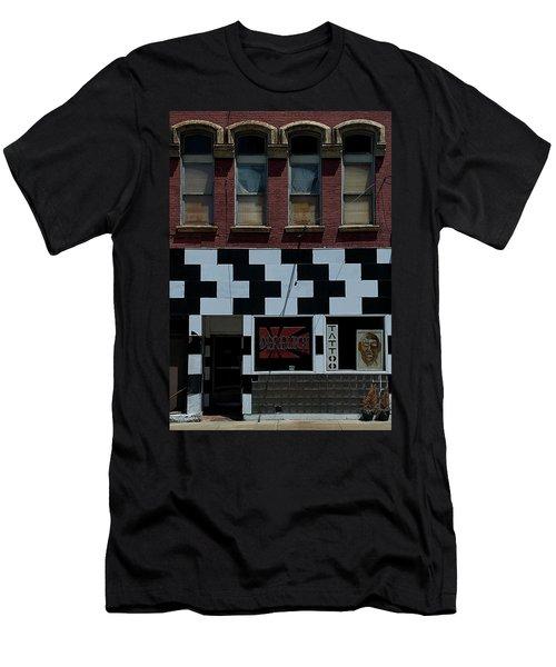 Tattoo Parlor Elmira Men's T-Shirt (Slim Fit) by Steven Richman