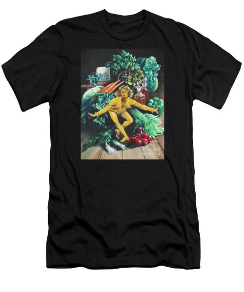 The Dancing Lemon Men's T-Shirt (Slim Fit) by Vivien Rhyan
