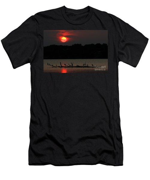 0016 White Rock Lake Dallas Texas Men's T-Shirt (Athletic Fit)