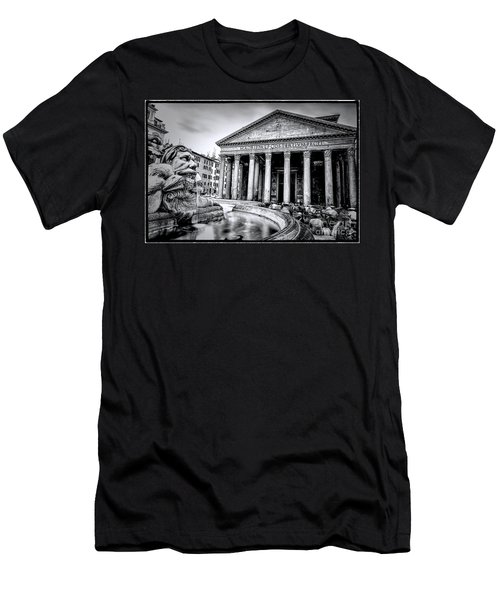 0786 The Pantheon Black And White Men's T-Shirt (Athletic Fit)