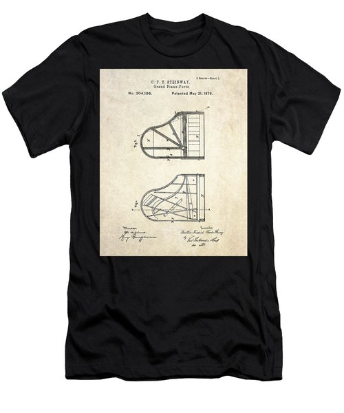 1878 Steinway Grand Piano Forte Patent Art S. 1 Men's T-Shirt (Athletic Fit)