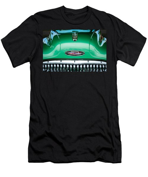 Men's T-Shirt (Athletic Fit) featuring the photograph 1953 Buick Hood Ornament - Emblem by Jill Reger