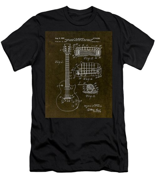 1955 Gibson Les Paul Patent Drawing Men's T-Shirt (Athletic Fit)