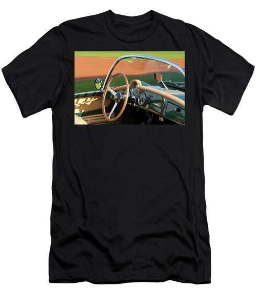 Men's T-Shirt (Athletic Fit) featuring the photograph 1955 Lancia Aurelia B24 Spyder America Roadster by Jill Reger