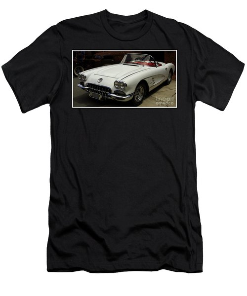1958 Chevrolet Corvette Men's T-Shirt (Slim Fit)