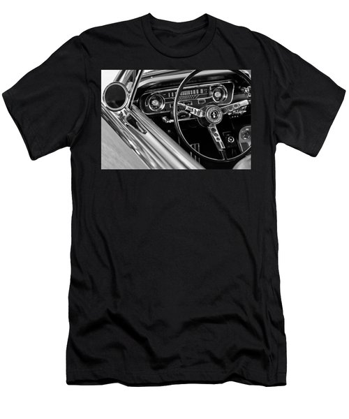 1965 Shelby Prototype Ford Mustang Steering Wheel Men's T-Shirt (Slim Fit) by Jill Reger