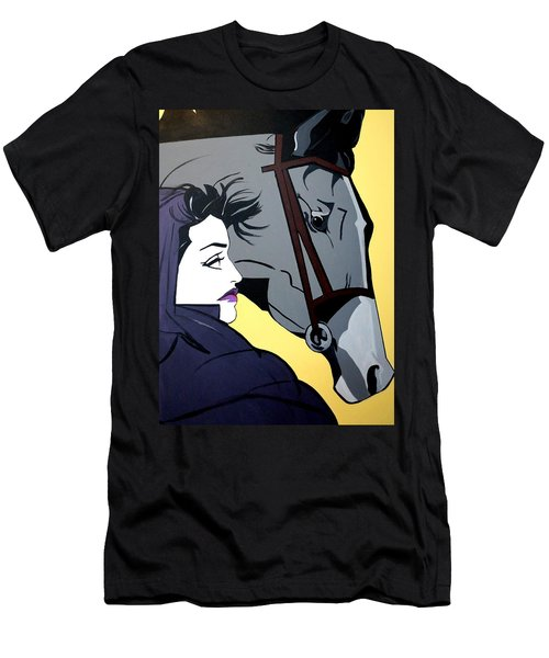 Men's T-Shirt (Slim Fit) featuring the painting 2 Beauties by Nora Shepley