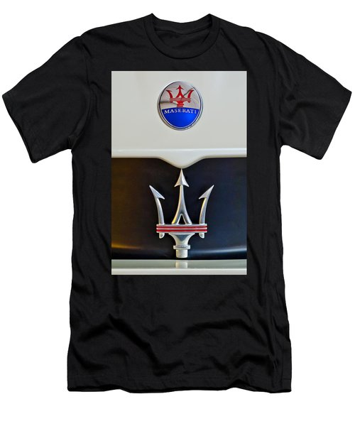 2005 Maserati Mc12 Hood Emblem Men's T-Shirt (Slim Fit) by Jill Reger