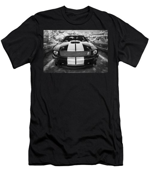 2007 Ford Mustang Shelby Gt Painted Bw   Men's T-Shirt (Athletic Fit)