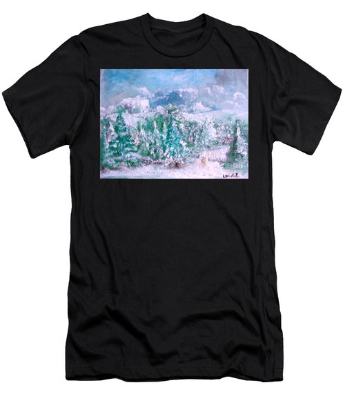 Men's T-Shirt (Athletic Fit) featuring the painting A Natural Christmas by Laurie Lundquist