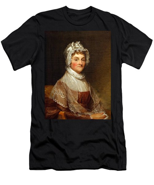 Men's T-Shirt (Slim Fit) featuring the photograph Abigail Smith Adams By Gilbert Stuart by Cora Wandel
