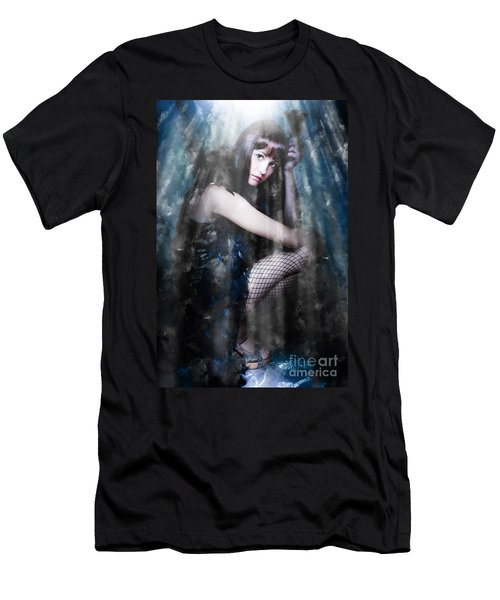 Actress In Stage Spotlight Men's T-Shirt (Athletic Fit)
