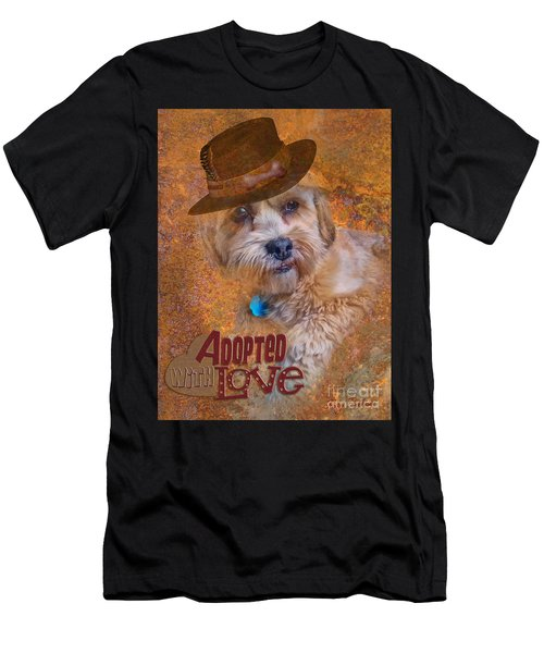 Adopted With Love Men's T-Shirt (Athletic Fit)