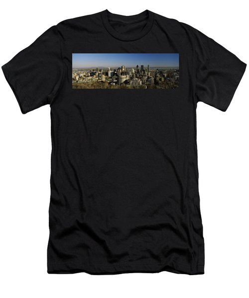 Aerial View Of Skyscrapers In A City Men's T-Shirt (Athletic Fit)