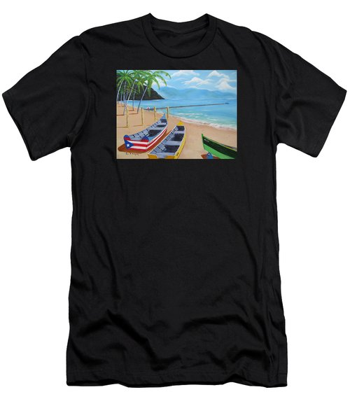 Aguadilla Crashboat Beach Men's T-Shirt (Athletic Fit)