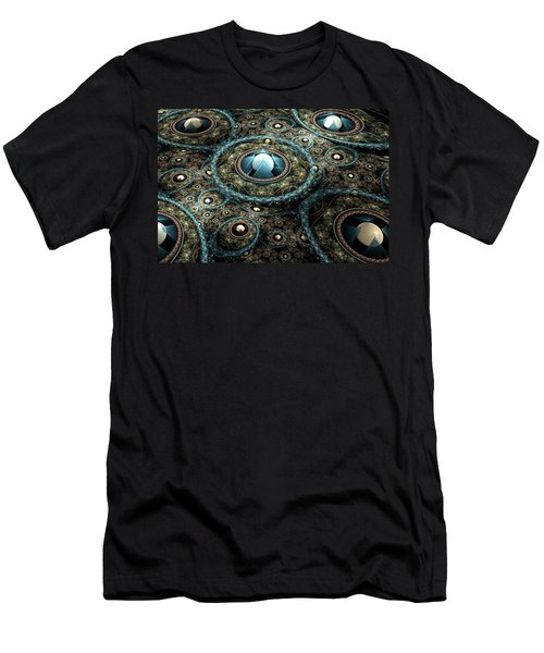 Men's T-Shirt (Slim Fit) featuring the digital art Alien Station by Svetlana Nikolova