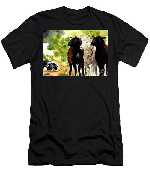 All Eyes Men's T-Shirt (Slim Fit) by Molly Poole