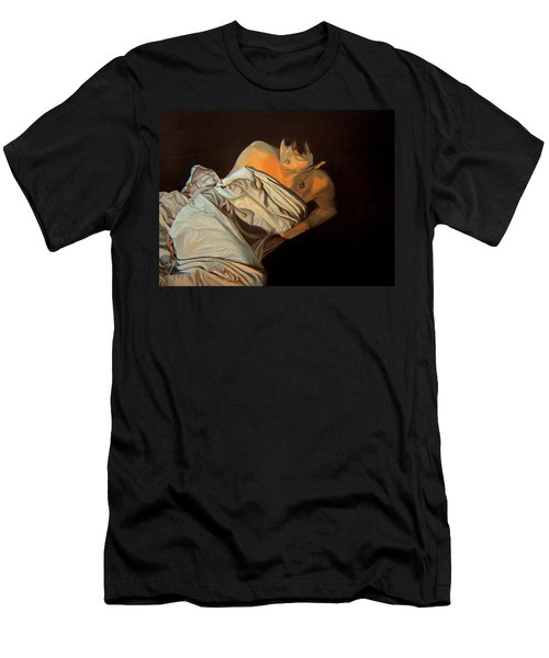 Men's T-Shirt (Slim Fit) featuring the painting 1 Am by Thu Nguyen